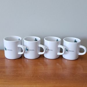 4 caribou coffee espresso mugs, small sippers